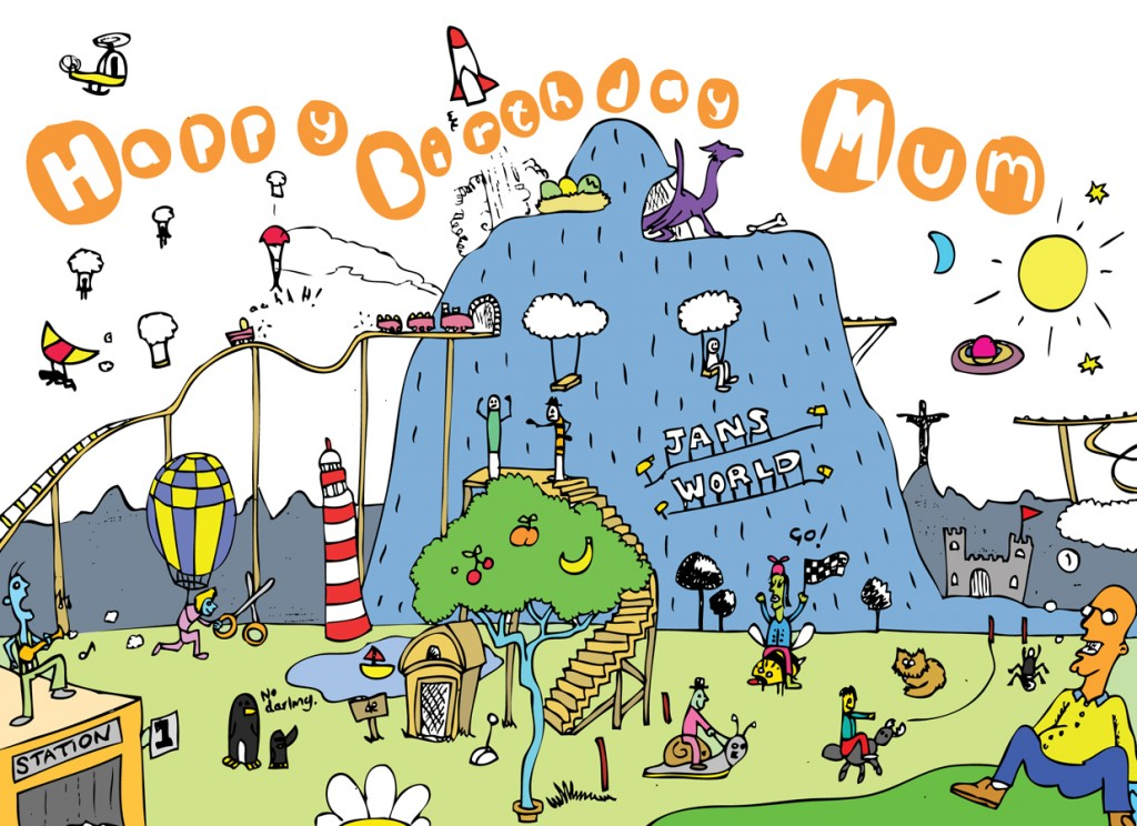 Cartoon illustration Melbourne